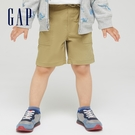 Gap男幼童 工裝風運動直筒短褲 759207-卡其色