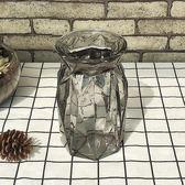 巴巴塔花瓶鮮花歐式地中海玻璃透明簡約田園風創意插水培干花瓶擺  無糖工作室