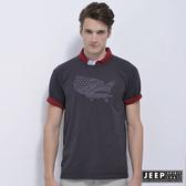 【JEEP】網路限定 創意圖騰T恤-鐵灰色