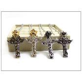 項鍊 纏繞雕紋立體皇冠骷髏頭十字架項鍊 型男專屬 組合式可拆 柒彩年代【NB182】精緻搭配