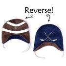 Flapjack kids雙面保暖造型帽-橄欖球/曲棍球LUV0132[衛立兒生活館]