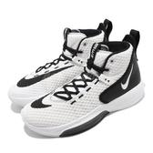 Nike 籃球鞋 Zoom Rize Team 白 黑 男鞋 運動鞋 【PUMP306】 BQ5468-100