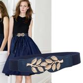 春夏連身裙子裝飾腰帶時尚鬆緊女式腰封韓版女士寬腰帶彈力皮帶窄
