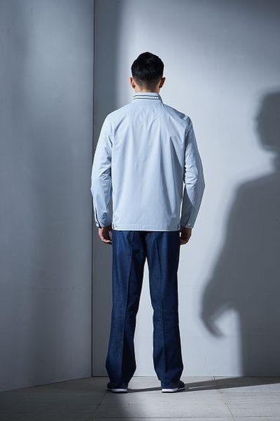 Emilio Valentino范倫鐵諾紳士防風薄款外套(灰)