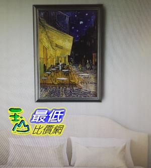 梵谷-夜晚露天咖啡座油畫裱框90*120cm W123496 [COSCO代購]