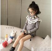 女童毛衣 秋裝V領時尚毛線衣中大童韓版冬裝上衣寶貝計畫