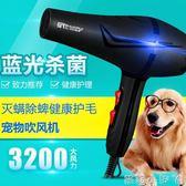 吹風機狗狗大功率靜音寵物專用電吹風金毛泰迪貓咪大型犬吹水機 220v全館免運