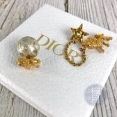 BRAND楓月 Christian Dior 迪奧 CD 金屬 獅子 球球 耳環