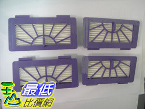 [一組 4 入] 相容型 Neato Hepa 濾網 Neato Pet & Allergy Filter Pack 適用XV21 XV-11 XV-12 XV-14 ,XV-21 , XV-15