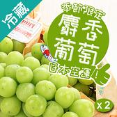 日本麝香綠葡萄串/盒X2(400g±5%/串)【愛買冷藏】