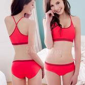 撞色彩條無縫低腰內褲S-XL(桃粉)《Life Beauty》