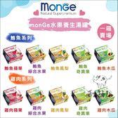MONGE〔水果養生湯罐,貓罐,10種口味,80g〕(一箱24入)