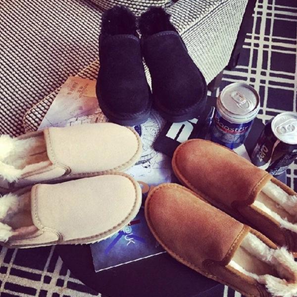 雪靴 暖呼呼內絨厚底短雪靴麵包鞋【S736】☆雙兒網☆