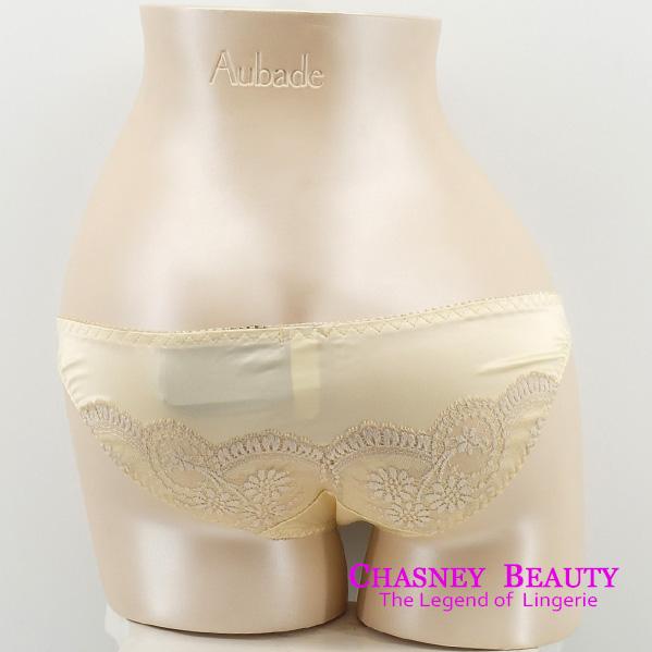 Chasney Beauty-蠶絲緞面B-D短版馬甲(牙白)