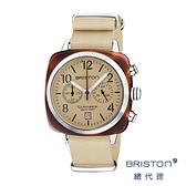 BRISTON 手工方糖錶 香草色 銀框 時尚百搭 禮物首選