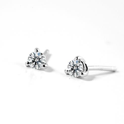 BRILLMOND 經典鑽石耳環(18K白金+10分鑽石x2)