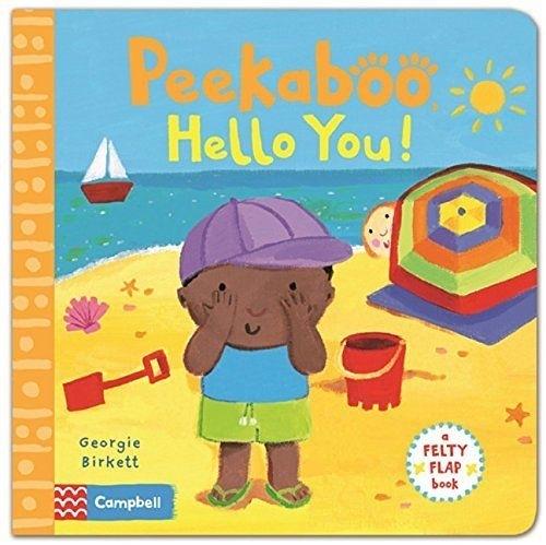 Felty Flaps:Peekaboo,Hello You!誰在玩躲躲貓:海邊玩耍篇 翻翻操作硬頁書