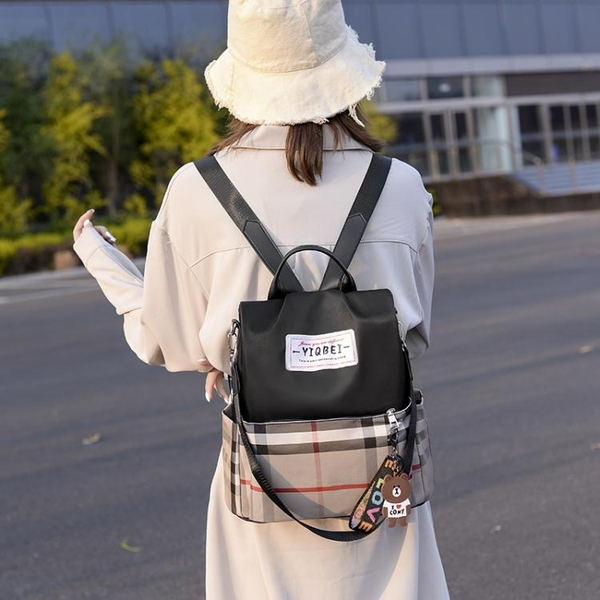 尼龍包 牛津布尼龍ins後背包女2021新款包包時尚百搭防盜大容量旅行背包 伊蘿 99免運