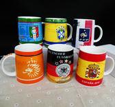 2018世界杯足球迷紀念品禮品俄羅斯周邊國家隊徽馬克杯陶瓷水杯子【小梨雜貨鋪】