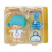 Sanrio 換裝娃娃組 擺飾玩偶 公仔 雙子星 KIKI 廚師裝 黃