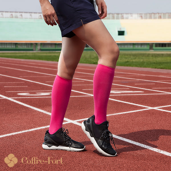 美國進口- 卡夫運動壓力襪-小腿襪-桃紅色 (女款)