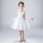 女童連衣裙 2020夏季新款童裝中大童花童禮服小女孩蓬蓬公主裙洋氣