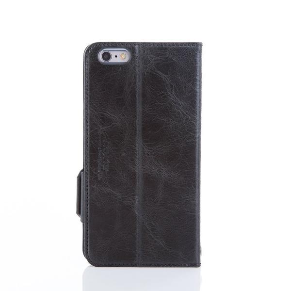iPhone 6 plus / 6s plus 精緻皮革真皮手機皮套 黑