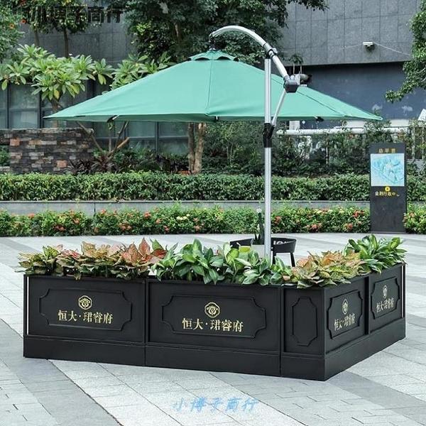 售樓網格裝飾露天花種箱子飯店戶外鐵藝花箱組合方長