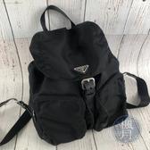 BRAND楓月 PRADA 1BZ005 黑色 尼龍 經典款後背包 大容量 三角LOGO 日常休閒 中款