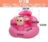 加厚輔助家用小孩寶寶坐椅嬰兒學坐後背專用神器寶貝通風新生充氣