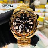 【INVICTA】2019 新款 繩索系列- 三眼計時腕錶 - 黑金繩索