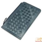 皮夾-MOROM.羊皮漸層色調時尚編織長夾(共二色)288