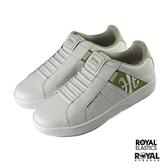 Royal Genesis 白色 皮質 套入 休閒鞋 男款 NO.B1053【新竹皇家 01994-040】