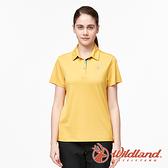 【wildland 荒野】女 椰炭紗抗菌抗UV短袖上衣『藤黃色』0A91625 運動 露營 登山 吸濕 排汗 快乾