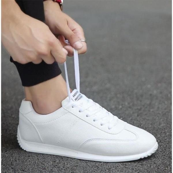 男鞋夏季新款透氣鞋子男士運動休閑小白鞋韓版潮流阿甘鞋