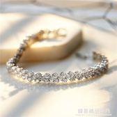 滿?羅馬手?女時尚高檔超閃鋯石心形手飾手鐲生日告白錶白禮物
