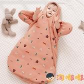 嬰兒睡袋秋冬加厚寶寶新生兒抱被防驚跳純棉兒童防踢被【淘嘟嘟】
