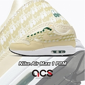 Nike 休閒鞋 Air Max 1 PRM 黃 綠 男鞋 檸檬圖騰 Lemonade 反光 復古慢跑鞋 【ACS】 CJ0609-700