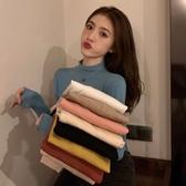百搭基礎半高領套頭打底毛衣女冬季新款韓版修身內搭長袖針織上衣 雅楓居