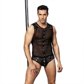 性感網紗男士馬甲情趣內衣 男傭角色扮演 情趣套裝 【CH_6621】