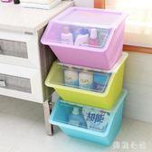 收納箱 收納箱塑料有蓋衣服兒童玩具零食品整理箱廚房儲物箱透明 aj3195『美鞋公社』