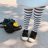 女童春裝2019新款童裝兒童條紋打底褲洋氣百搭潮款褲子寶寶外穿