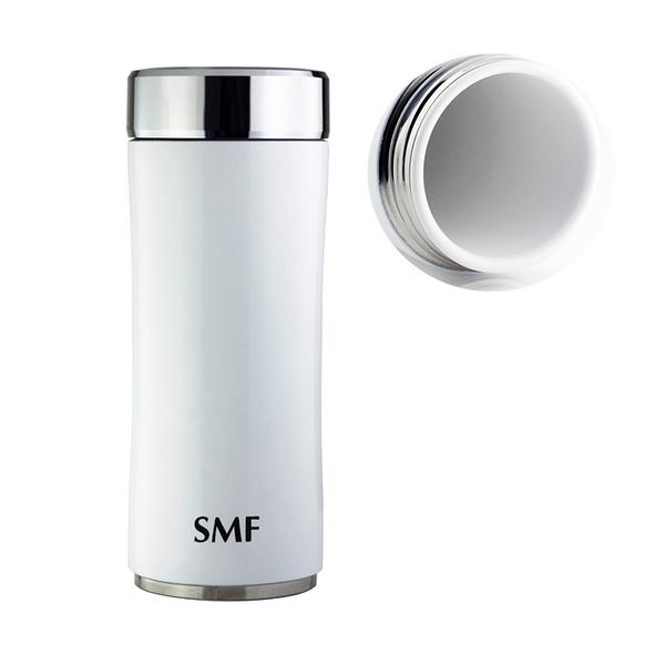【雙重送】SMF骨瓷保溫杯 鋅時尚款 350ml (鮮乳白) ❤加贈SMF專用帆布束口袋 ❤丹麥MIX密封瓶(1入)