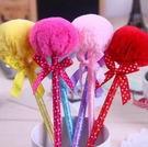 出清~~婚禮小物~~毛球造型原子筆/100支 --顏色混搭出貨