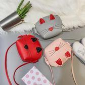 兒童斜背包韓版迷你小包包公主潮包可愛小貓咪卡通單肩包小女孩包 至簡元素