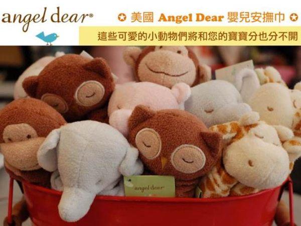 美國Angel Dear 動物嬰兒安撫巾 紫色河馬
