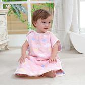 紗布睡袋夏季薄款四季兒童薄嬰兒防踢被神器寶寶背心式春秋 滿千89折限時兩天熱賣