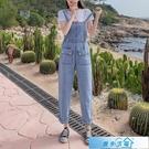 吊帶褲 背帶褲女韓版寬鬆2020新款港味小個子青春減齡學生高腰闊腿 漫步雲端