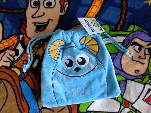 【發現。好貨】怪獸大學 怪獸電力公司毛怪絨毛束口袋 收納袋 毛料超優~