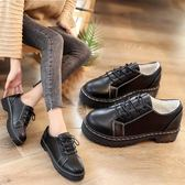 棉鞋冬季小皮鞋女秋冬新款保暖加絨韓版學生百搭原宿英倫冬鞋